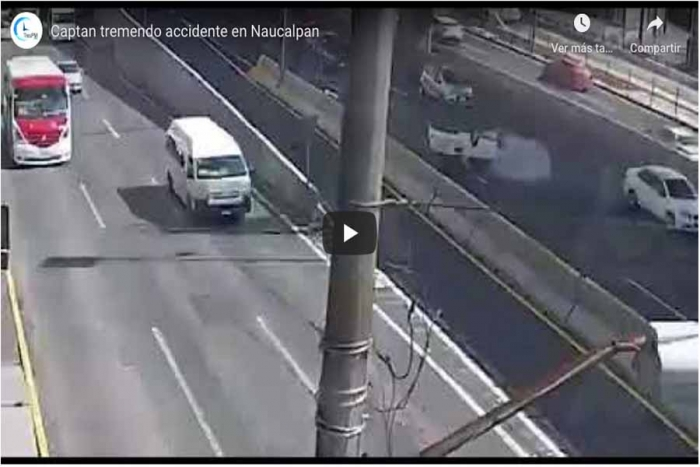 Captan tremendo accidente en Naucalpan